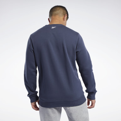 Men Fitness & Training Blue Training Essentials Linear Logo Sweatshirt