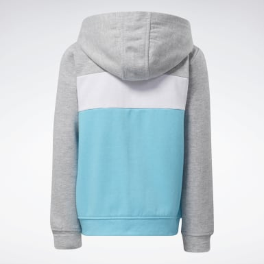 Kids Fitness & Training Turquoise Reebok Colorblock Hoodie