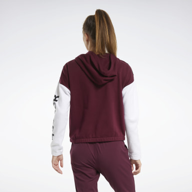 Sudadera Training Essentials Logo Burgundy Mujer Fitness & Training