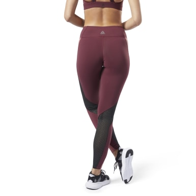 Women Fitness & Training Red Reebok Lux Tights 2.0
