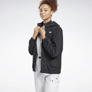Women Training Black MYT Woven Jacket
