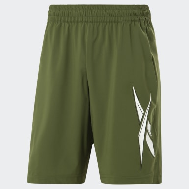 Men Cross Training Green Workout Ready Shorts