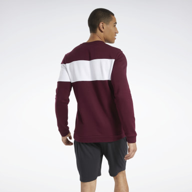 Sweat à col rond molletonné Training Essentials Burgundy Hommes Entraînement