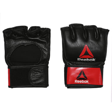MMA Red Combat Leather MMA Glove - Medium