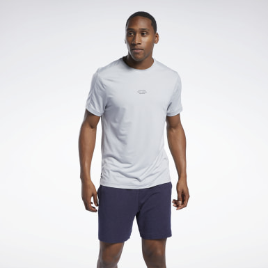 Men Studio Grey Les Mills® Knit Short Sleeve Tee
