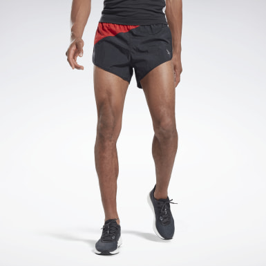 Men Running Black Heritage Run Split Shorts
