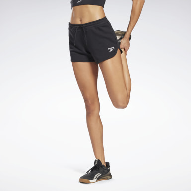 Women Fitness & Training Black Reebok Identity French Terry Shorts