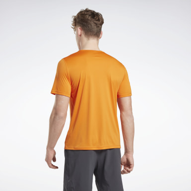 Mænd Trail Running Orange Night Run Shirt