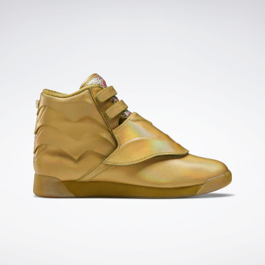 Women Classics Gold Freestyle Hi Shoes
