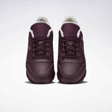 Women Classics Burgundy Classic Leather Women's Shoes