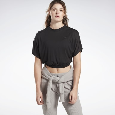 Women Yoga Black Restorative Studio Tee