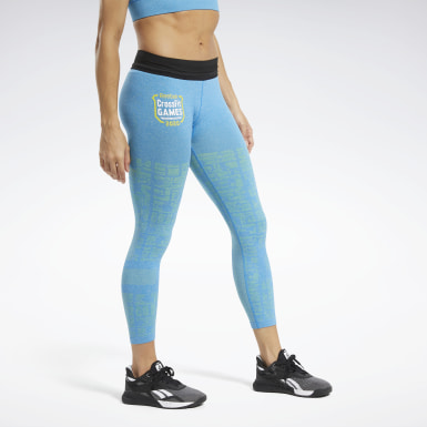 Women Training Blue Reebok CrossFit® Games MyoKnit Leggings