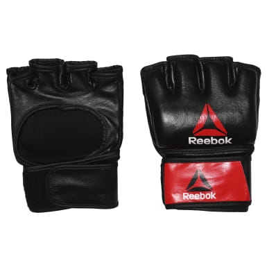 MMA Red Combat Leather MMA Glove - Large