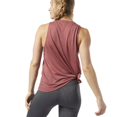 Women Yoga Pink One Series Burnout Tank Top