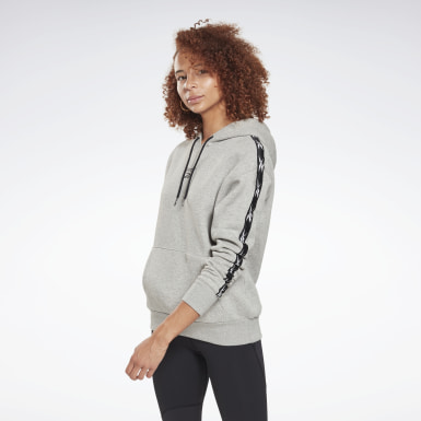 Women Fitness & Training Grey Training Essentials Tape Pack Hoodie