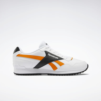 Men Classics White Reebok Royal Glide Ripple Shoes