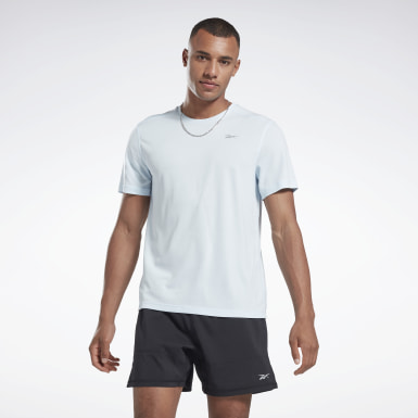 Men Trail Running Blue Running Essentials Tee