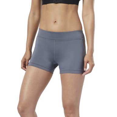 Women Training Grey Workout Ready Hot Shorts