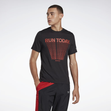 Men Running Black Heritage Run Graphic Tee
