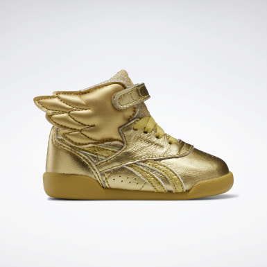 Kids Classics Gold Freestyle Hi Shoes - Toddler