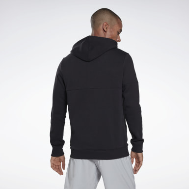 Herr Fitness & Träning Svart Training Essentials Logo Hoodie