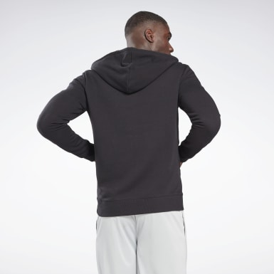 Men Training Black Reebok Identity Zip-Up Hoodie
