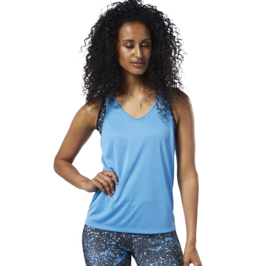 Playera Sin Mangas Running Essentials Azul Mujer Running