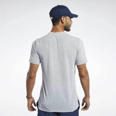Men Fitness & Training Grey Workout Ready Supremium Graphic Tee