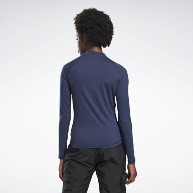 Top Thermowarm Touch Graphic Base Layer Blu Donna Hiking