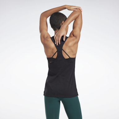 Dam Yoga Svart Burnout Tank Top