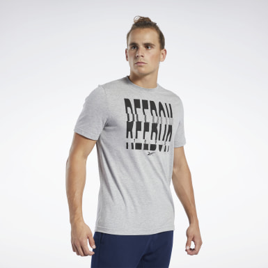 Men Training Grey Graphic Series Reebok 1895 Crew Tee