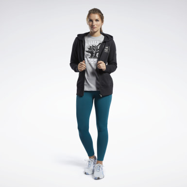 Sudadera Reebok CrossFit® Full-Zip Negro Mujer Cross Training