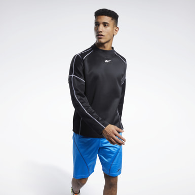 Men Fitness & Training Black MYT Crew Sweatshirt