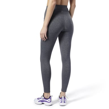 Dam Fitness & Träning Grå Reebok Lux High-Rise Tights 2.0