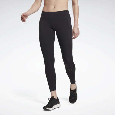 Women Running Black Running Essentials Tights