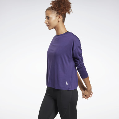Frauen Yoga Workout Ready Supremium Long-Sleeve Shirt