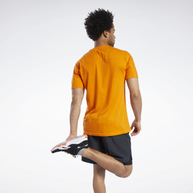 Men Fitness & Training Orange Speedwick Graphic Move T-Shirt
