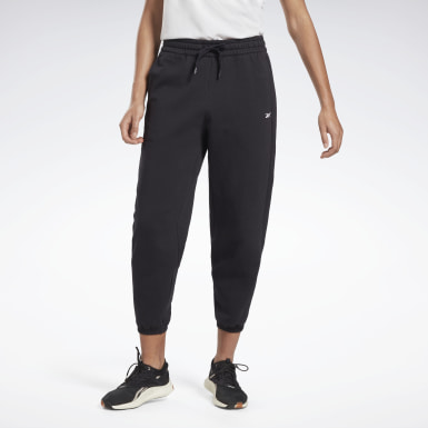 Women Fitness & Training Black DreamBlend Cotton Knit Pants