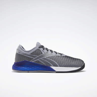 Boys Training Grey Reebok Nano 9 Shoes - Grade School