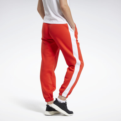 Pantaloni Training Essentials Logo Rosso Donna Fitness & Training