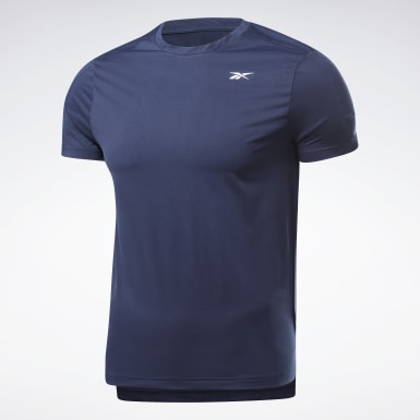 Men HIIT Blue United By Fitness Perforated Tee
