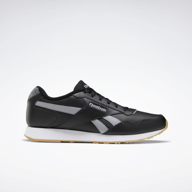 Men Classics Black Reebok Royal Glide Lux Shoes
