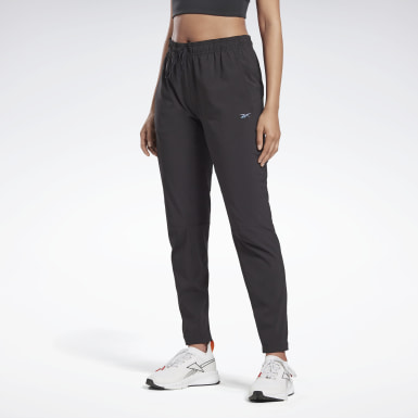 Women Running Black Run Track Pants