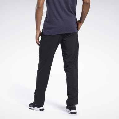 Men Fitness & Training Black Training Essentials Woven Open Hem Pants