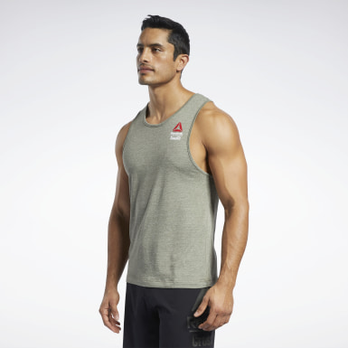 Men Training Green Reebok CrossFit® Games ACTIVCHILL+COTTON Tank Top