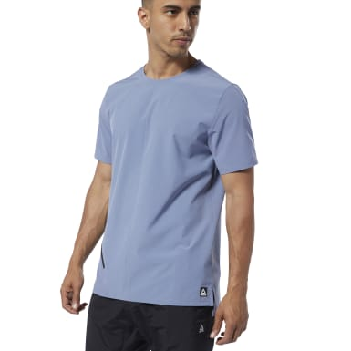Men Training Purple Training Supply Woven Tee