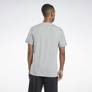 Heren HIIT Grijs Graphic Series Reebok Stacked T-shirt