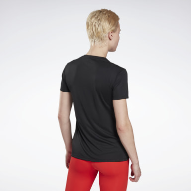 Camiseta Run Essentials Negro Mujer Running
