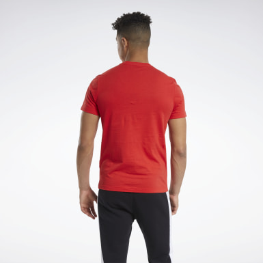 Camiseta Graphic Series Reebok Stacked Rojo Hombre Fitness & Training