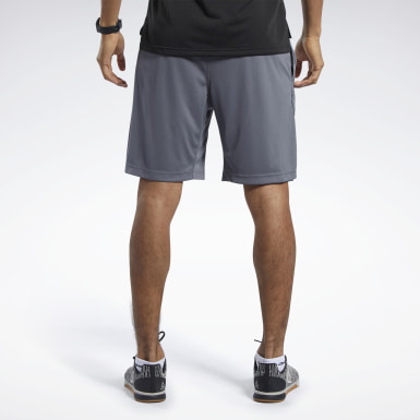 Men Training Grey Workout Ready Shorts
